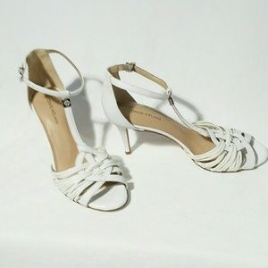 Antonio Melani heel sandal, White, size 10